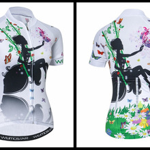 Beautiful Cycling Jersey Women Mountain Road Bike Jersey Summer Shirt  Breathable MTB Bike Clothes Maillot Ciclismo 279fed404