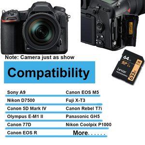 Image 5 - Tarjeta SD profesional Lexar 2019, promocional, 16GB 32GB 64GB 128GB 256G Class10 U1/U3 V10/V30 SDHC/SDXC, tarjeta de memoria Dropshipping
