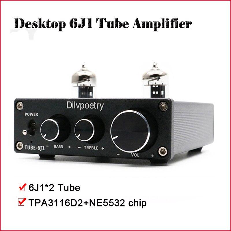 Dilvpoetry Buis 6K4 Buffer Mini Tube Voorversterker Versterker Hifi TPA3116D2 Vacuüm Buis Versterker Audio Voorversterker Buis Power Amp-in Versterker van Consumentenelektronica op  Groep 1