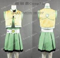 애니메이션 파워 퍼프 걸 여자 Z 모모코 Akatsutsumi 유니폼 드레스 코스프레 의상 모든 크기 3