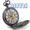 wholesale Classic Hand-wind Pocket Watch Mens Skeleton Vintage freeship
