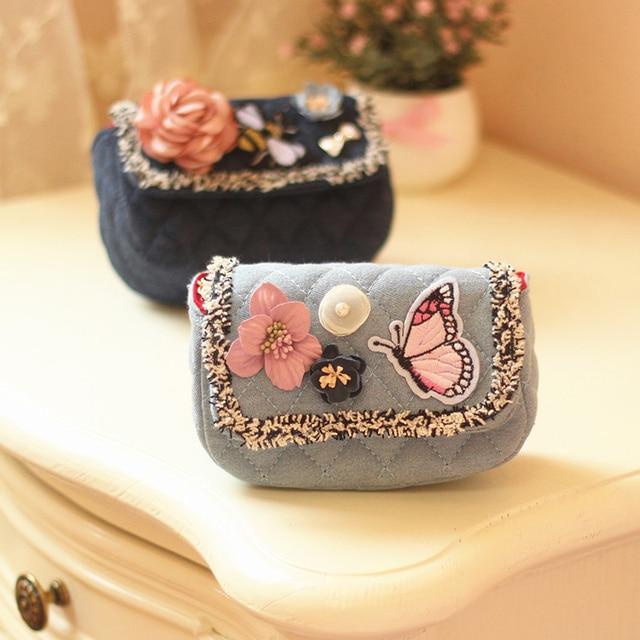 61c614024c04 QZH Kids Messenger Bag Cute Princess Baby Girls Sweet Lovely Clutch Purses  Handbags Flower Crossbody Bags