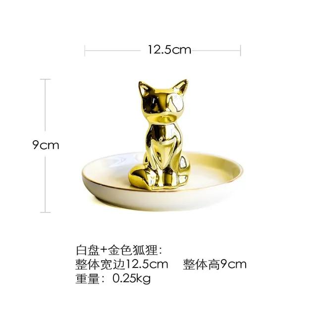 Small Flamingo Unicorn Pineapple Decorative Dish Plate Porcelain Jewelry Dish Necklace Ring Tray Storage Trinket Vanity Dish