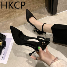 HKCP Fashion Spring/summer 2019 new Korean version of one-button, high-heeled gladiator shoes with a pointed toe C232