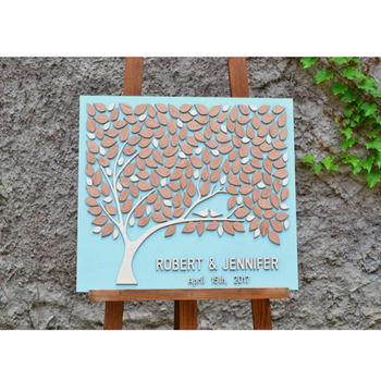 Wedding Sign Personalized Guest Book Tree, Custom 3D Wedding Guest Book With Couple Name Date,Alternative Wood Guestbook