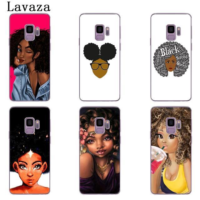 NAIROBI Coque de téléphone Beauté Africaine Afro Puffs Noir Fille Dur Téléphone Shell Cas pour Samsung Galaxy S8 Plus S9 Plus S3 S4 s5 S6 S7 Bord Couverture 1