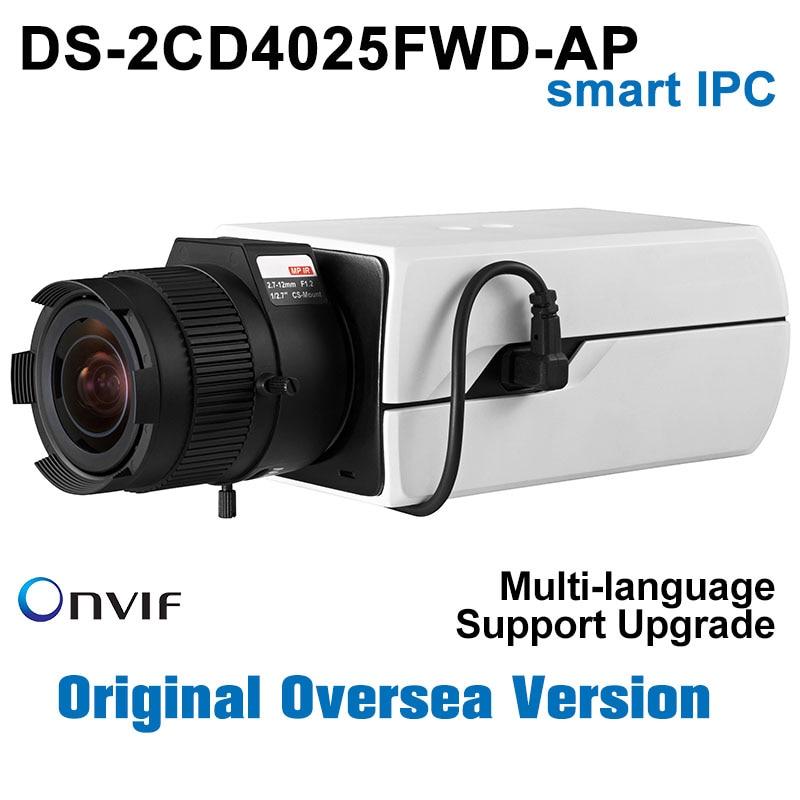 Pre-sale Hikvision IP Camera 2MP POE Smart IPC 1080P DS-2CD4025FWD-AP 2MP Smart IP Box Camera Indoor Video Camera Indoor