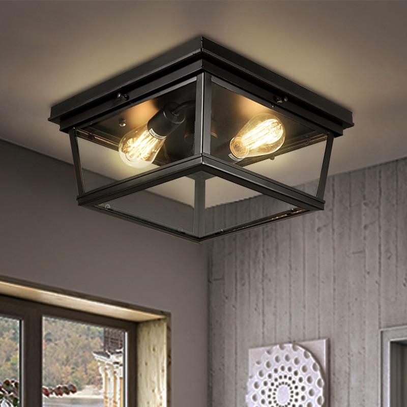 Freies Verschiffen Wrougth Eisen Schwarz Farbe Deckenleuchte Wohnzimmer Schlafzimmer Mit Edison Bubls Kostenloser Versand