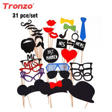 Tronzo Hot Sale Party Photo Booth Funny Glasses Moustache Birthday Party Supplies Wedding Decoration Photo Props