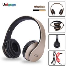 Słuchawki bezprzewodowe zestaw słuchawkowy Bluetooth Stereo składane sportowe bezprzewodowe słuchawki z mikrofonem gamingowy zestaw słuchawkowy słuchawki bezprzewodowe tanie tanio unigogo Wyważone Armatura Bezprzewodowy + Przewodowe 105±3dBdB Nonem Dla Telefonu komórkowego Do Gier Wideo Wspólna Słuchawkowe