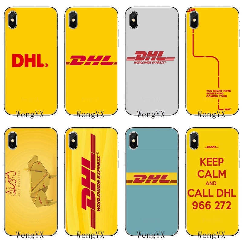 Yellow Design Luxury Logo DHL For Huawei Mate 8 9 10 20 P8 P9 P10 P20 Pro Lite Plus P Smart Mini  TPU Soft Phone Cover Case