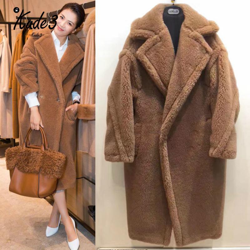 Elegant Shaggy Women Faux Fur Coat Streetwear Autumn Winter Warm Plush Teddy Female Plus Size Overcoat Party Bomber Jacket 7479