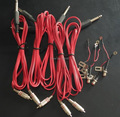10Sets Tattoo  RCA Jack Conversion Kit Plug For Tattoo Power Supply