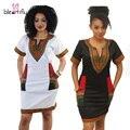 Más el Tamaño 3XL Vestidos Africanos para Las Mujeres Sexy Imprimir Vestido de Tirantes Sin Mangas de Las Señoras de Oficina Vestido de Verano Elegante Vestido Dashiki
