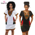 Plus Size 3XL African Dresses for Women Sexy Print Sundress Sleeveless Ladies Office Dress Elegant Summer Dashiki Dress