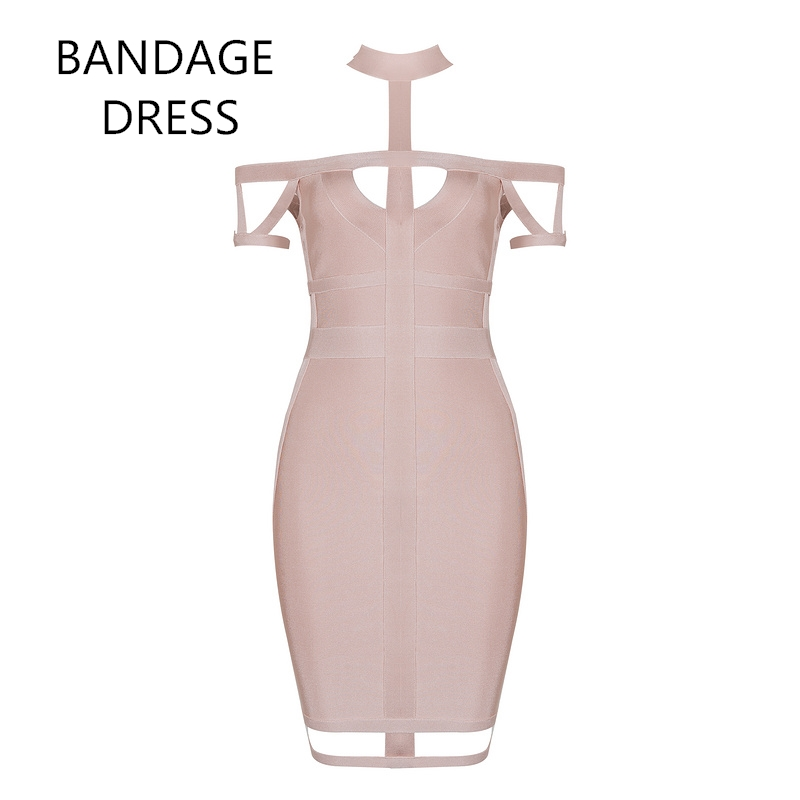 2017 New Summer Women Bandage Dress Royal Blue Apricot Hollow Out Vestidos Celebrity Eve ...