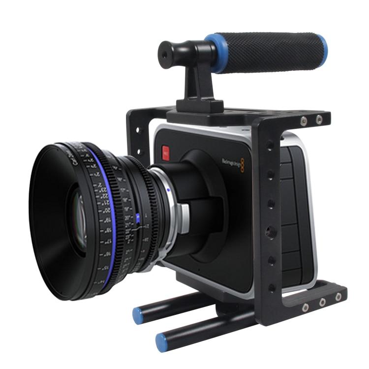 YELANGU Aluminum DSLR Camera Video Cage Kit for BMCC BLackmagic Cinema Camera