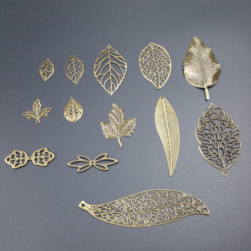 Filigree Leaf Metal Connector For Jewelry Making DIY Accessories Pendant