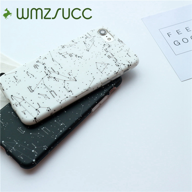 WMZSUCC Constellation Star Map Soft Matte Phone Case For IPhone - Star map iphone