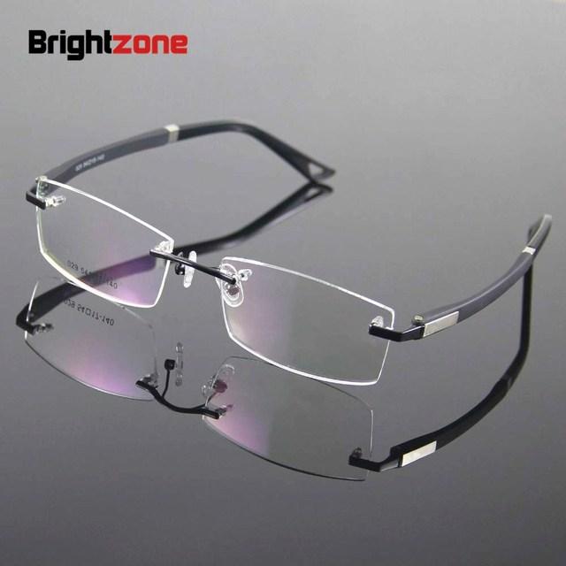 0bf4f038f5 Rimless Glasses Frame Designer Rim Spectacles Men Eyeglasses Optical Frame Prescription  Eyewear Goggles Eyeglass Frames gafas