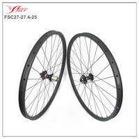 Cheap 650B Carbon MTB wheels 27.4mmx25mm clincher rims with hook tubeless compatible UD matte carbon wheelsets with Novatec hub