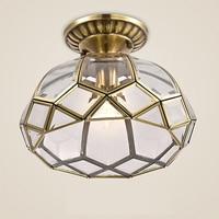 Europeu de bronze vidro ferro metade pendurado conduziu a luz teto para corredor estudo quarto entrada villa