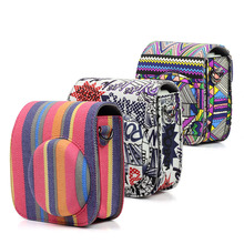 3 Camouflage Style Retro Mini Camera Bag Case for Fujifilm Instax Mini 8/8+/9 PU Leather Camera Protect Case