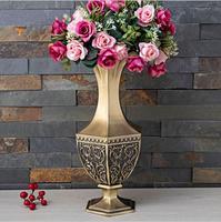 Europe H34CM metal luxury flowers in vases living room vases for home decorative party vases decor vase flower