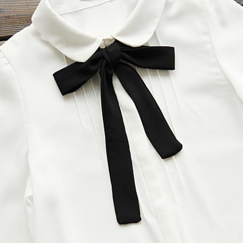 HTB11qrKQXXXXXauapXXq6xXFXXXa - Korean Women Elegant Bow Tie White Blouses Clothing