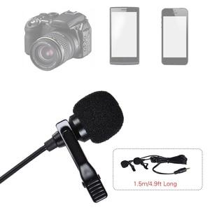 Image 2 - AriMic çift kafa klip yaka mikrofonu yaka mikrofonu çok yönlü kondenser kayıt mikrofon iPhone samsung için DSLR kameralı telefon