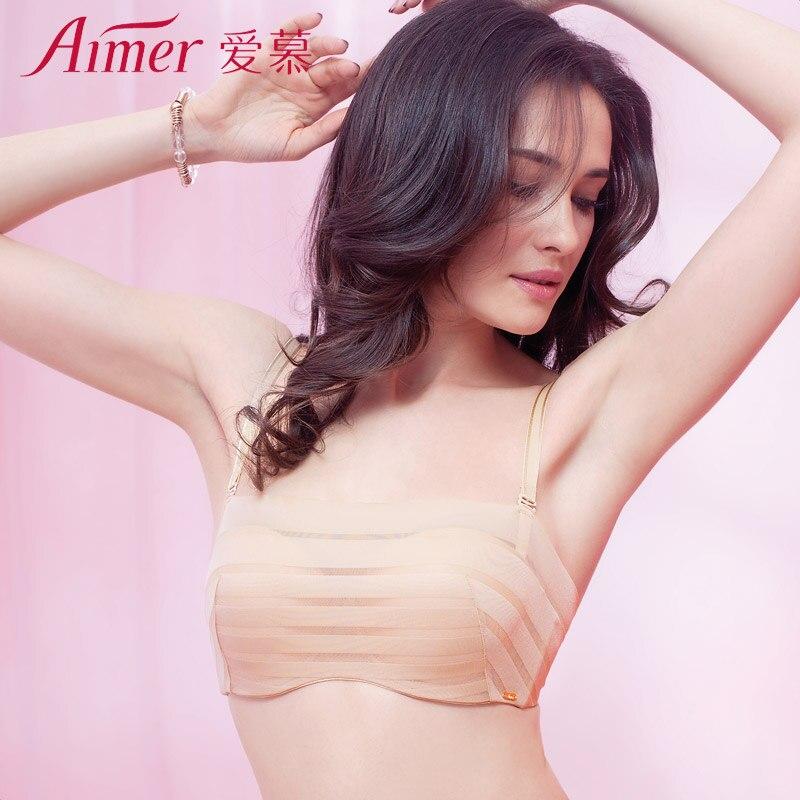 2de905b47d Aimer Fashion Ultra-thin Stripe Cami-Bra Women s Underwear Push-up Lingerie  Pure Cotton Brassiere ...