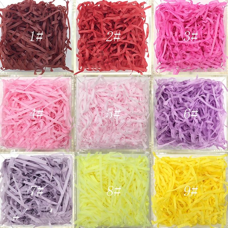 20g/bag Shredded Crinkle Paper Raffia Paper Confetti DIY Dry Straw Gifts Box Filling Material Wedding/Birthday Party Decoration