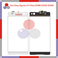 high quality 6.0″ For Sony Xperia C5 Ultra E5506 E553 Touch Screen Digitizer Sensor Front Glass Lens panel Black White