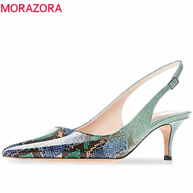 MORAZORA 2019 new arrival pumps women shoes pointed toe top quality summer shoes sexy stiletto heels