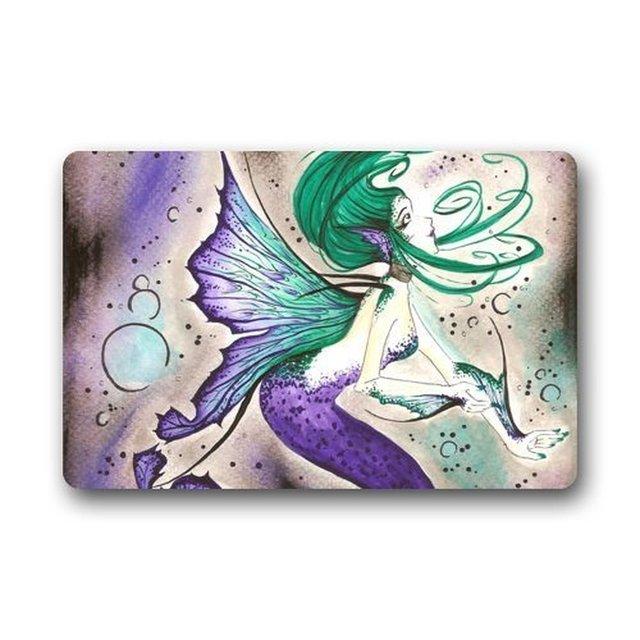 speicher hause fantastische waschbar fumatte lila meerjungfrau kunst fisch fumatte teppich haustr bad matten schlafzimmer waschbar - Fantastisch Vintage Lila Schlafzimmer
