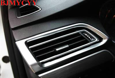 BJMYCYY Air-conditioning Outlet Cover ABS plat For <font><b>Peugeot</b></font> <font><b>308</b></font> Hatchback 2014 <font><b>2015</b></font> 2016 Second generation T9 <font><b>SW</b></font> Rear View 5door image