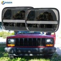 5x7 Rectangular LED Headlight 6x7 Inch Square Led Truck Headlamp DRL For Jeep Wrangler YJ Cherokee