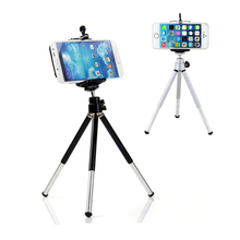 2PCS Unfolded(200mm)Portable Camera Tripod for Phone With Bag High Quality Universal Tripod For Camera/Mobile Phone цена 2017