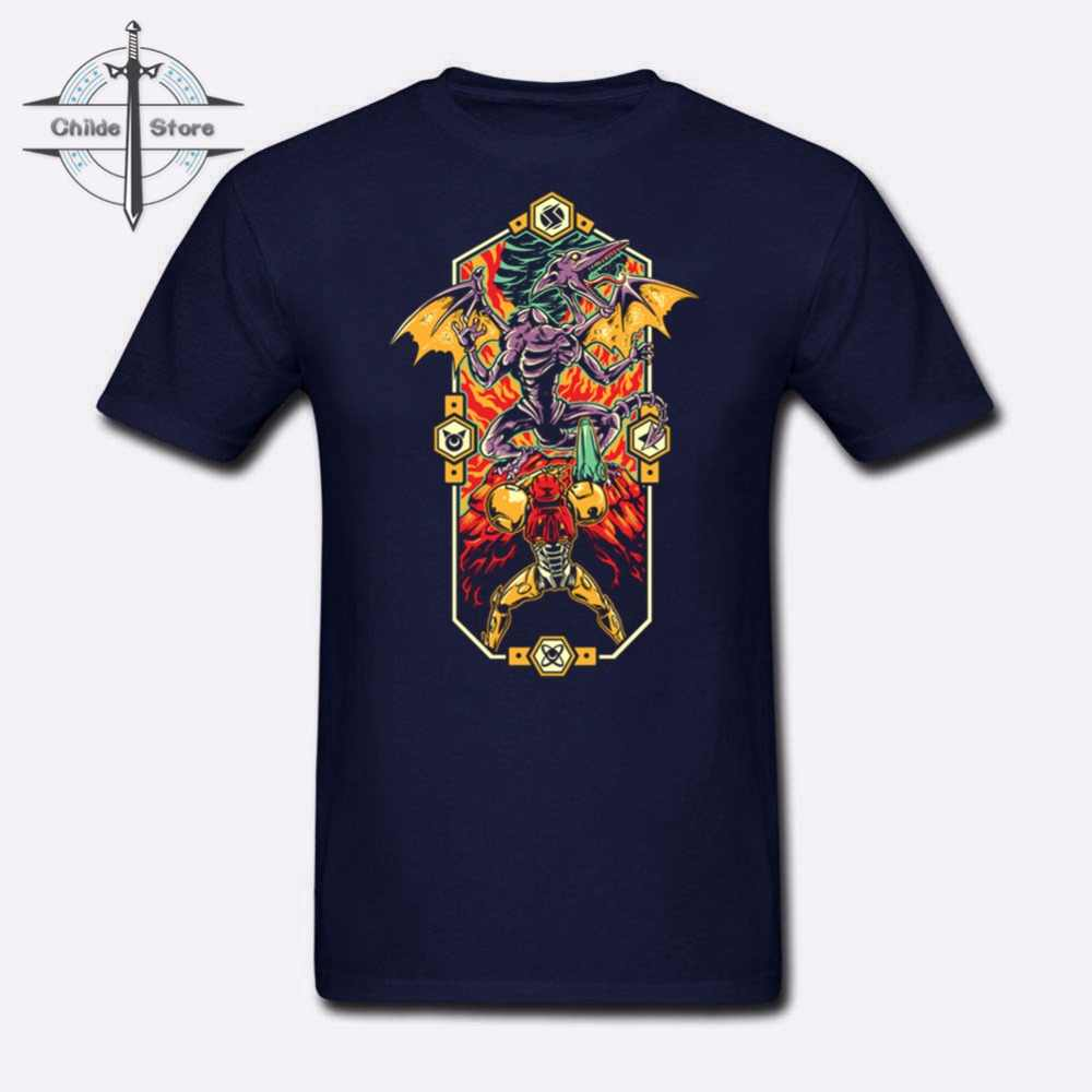 9 летние 3D принт 3XL 2018 Роскошные Metroid Prime футболка Для мужчин синий T Экран печати Epic Супер Метроид футболка для для мужчин s