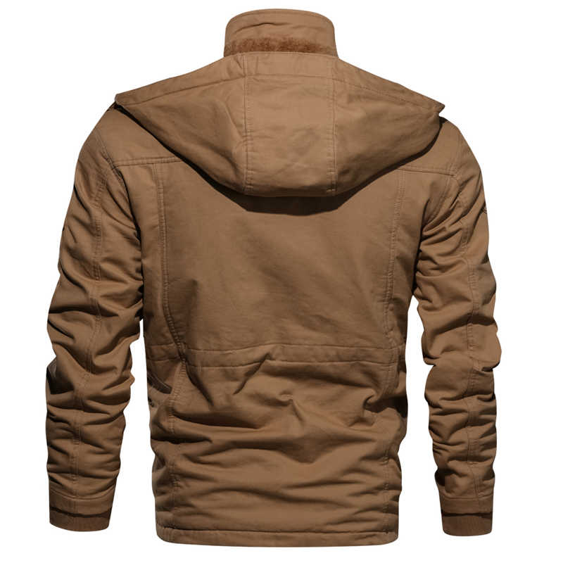 Зимняя мужская брендовая мужская одежда военная куртка мужские флисовые куртки теплое пальто с капюшоном теплая толстая верхняя одежда KB822