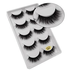 Image 3 - 30 par/partia natrual 3d rzęsy z norek sztuczne rzęsy 3d rzęsy z norek luzem fluffyfalse lash kit 6 paczek rzęsy maquiagem