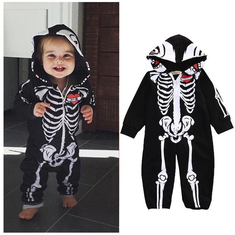 Black Newborn Baby Girls Boys Rompers Clothes Halloween