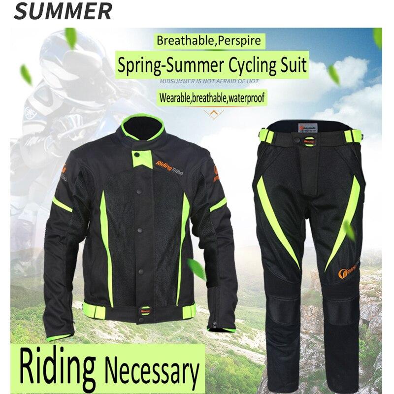 Équitation tribu Motocycle vêtements vestes pantalons hommes Moto course cyclisme costume imperméable Antifouling été hiver cavalier vêtements - 4