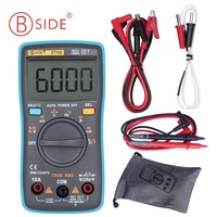 BSIDE ZT102 Ture RMS Digital Multimeter AC DC Voltage Current Temperature Ohm Frequency Diode Resistance Capacitance