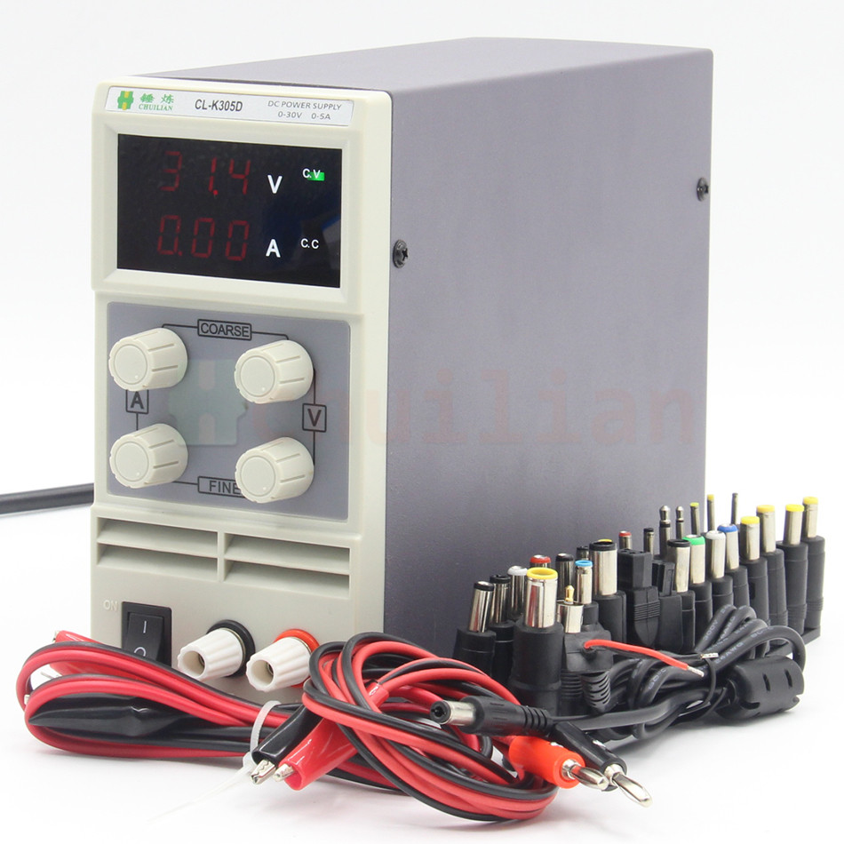 chuilian CL305D 30V 5A Single Channel adjustable Digital 0.1V 0.01A DC Laboratory power supply DC power cables cps 6011 60v 11a digital adjustable dc power supply laboratory power supply cps6011