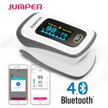 Пульсоксиметр на кончик пальца Jumper, измеритель пульса и уровня кислорода в крови, с Bluetooth, забота о здоровье