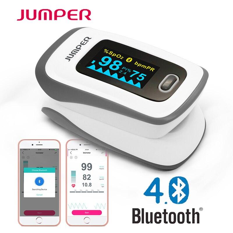 Oxímetro de pulso Bluetooth oxímetro de dedo saturación de oxígeno en sangre oxímetro Pulsioximetro para el cuidado de la salud