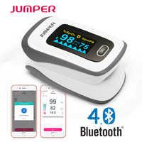 Oxymètre de pouls Bluetooth doigt oxymètre de dédo du bout des doigts Saturation en oxygène du sang Oximetro Pulsioximetro pour les soins de santé
