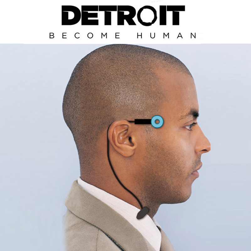 Detroit : Become Human Cosplay Connor Wireless Temple Led Light RK800 Halloween Party Status Light Props DropShipping