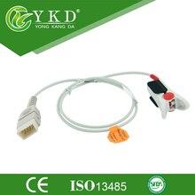 Frete Grátis para 9Pin reuable 1 M Spo2 BCI Dedo Adulto Sensor de Clipe de Spo2